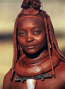 Mulher Himba - tribo africana